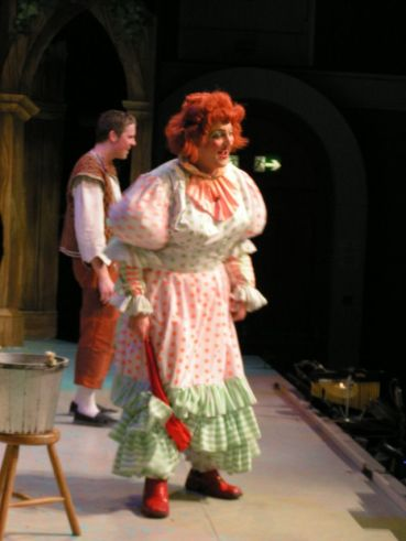 As Dame Foxy Trott in Jack and The Beanstalk with son Richard Thompson Newbury Corn Exchange 2004