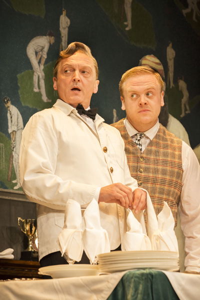 With Owain Arthur in One Man, tweo Guvnors, Theatre Royal Haymarket