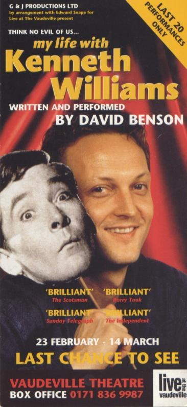 Flyer for Think No Evil of Us Vaudeville 1998