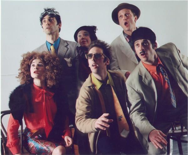 Rhinoceros tour 2002 with Peepolykus (Phoebe Soteriades, David Sant, Flick Ferdinando, John Nicholson, DB, Javier Marzan)
