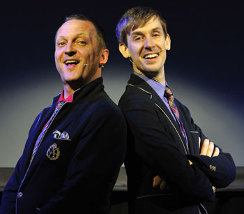 With Stewart Nicholls in Singalong Glee Club, my other 2010 Edinburgh show alongside Lockerbie: Unfinished Business